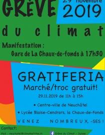 Grève du climat! Manifestation le 29 novembre 2019