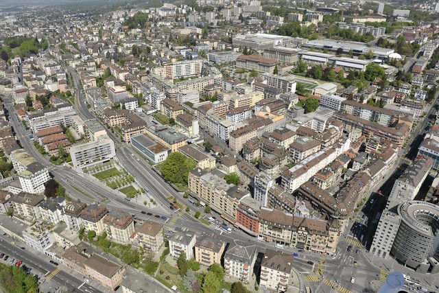 Chauderon et l'avenue d'Echallens